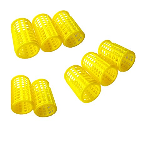 Homeoculture 8 Plastic 30mm DIY Hairdressing Roller Curlers Clips for Woman