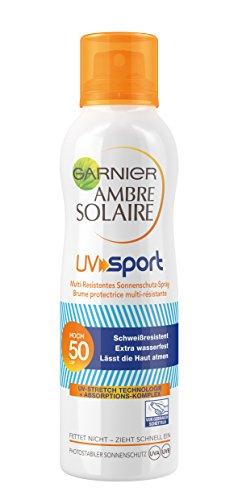 Garnier Ambre Solaire Sonnenschutz Spray UV Sport, 1er Pack (1 x 200 ml)