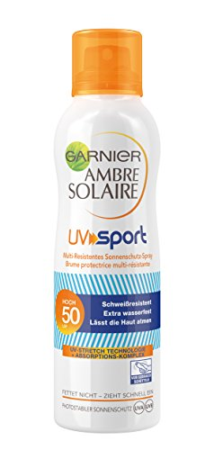 Garnier Ambre Solaire UV protector solar SPF Deporte aerosol 50, 1er Pack (1 x 200 ml)