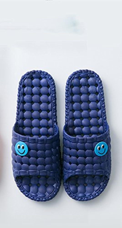 JJDJF Inicio deslizadores hembra verano interior antideslizante baño casa hogar parejas sandalias y zapatillas... -