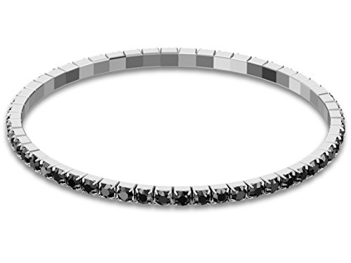 SWAROVSKI® Stretch Armband JET - Tennis Armband mit Kristallen - DEHNBAR
