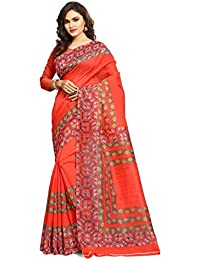 Ruchika Fashion Women's Bhagal Puri Silk Saree With Blouse Piece Material