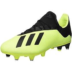adidas X 18.3 SG, Chaussures de Football Homme, Jaune (Amasol/Negbás/Ftwbla 001), 46 EU