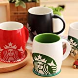 #6: ARTISTIC INDIA Starbucks With Spoon & Lid Ceramic Mug (350 ml)-Random color in the box