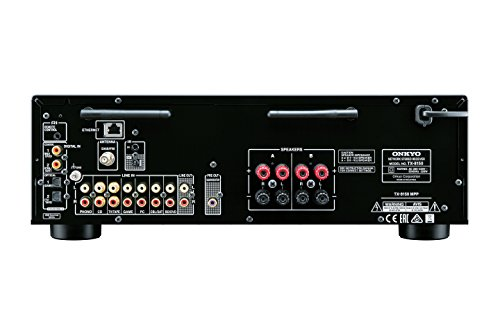 Onkyo TX-8150 (S) Netzwerk-Stereoreceiver (135 Watt Kanal, WiFi, Bluetooth, Spotify/Deezer/TuneIn, DAB+, 384/32 DA-Wandler, AirPlay, Phono) silber