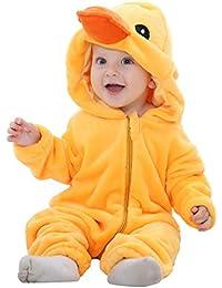 MICHLEY Bebé ropa disfraces Franela Traje animales Pelele