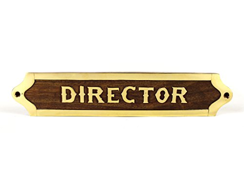 Hecho a mano de madera designación & título nombre placa | placa...
