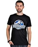 Jurassic World Logo T-Shirt Herren Baumwolle schwarz