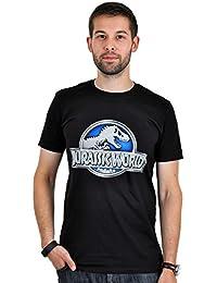 T-shirt logo Jurassic World pour homme coton noir