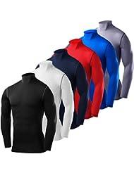 PowerLayer Herren Kind Funktionsunterwäsche Kompressionsshirt Armour Compression Top Skins Langarm