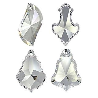 Kristallset 4 tlg. 'Pendel' 50mm Crystal 30% PbO ~ Feng Shui Suncatcher Regenbogenkristall