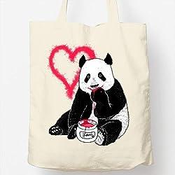 Bolso Totebag - Diseño original - Panda love jam