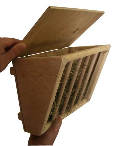 Spielzeug Holz-kaninchen (Kerbl Heuraufe mit Sitzbrett 25 x 17 x 20 cm)