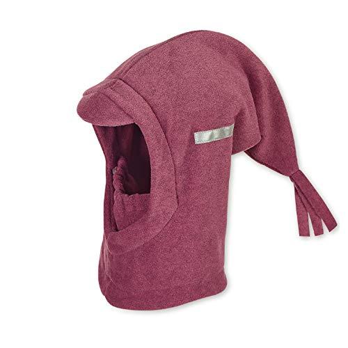Sterntaler Schalmütze mit Zipfel und elastischem integriertem Schal, Alter: 4-6 Jahre, Größe: 55, Lila