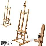 Artina Siena - Caballete de pintura de estudio de pie - Madera de haya lubrificada - Muy estable