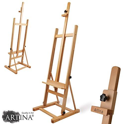 Artina Siena - Caballete de pintura de estudio de pie - Madera de...