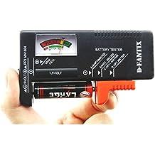 D-FantiX Tester Batteria Universale, Batteria Volt Checker per AA AAA C D 9V 1.5V Button Cell Batteries (Modello: BT-168)