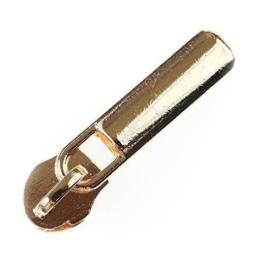 maDDma ® 5 Fashion Zipper für Spiralreißverschluss 5mm, Schieber Schlitten, Farbwahl, Farbe:Gold - Farbe Schlitten