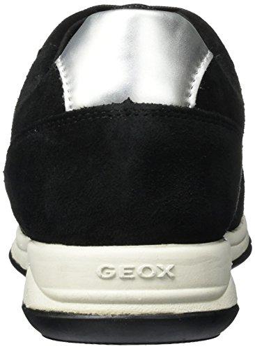 Geox Damen D Contact B Low-Top Schwarz
