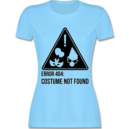 Karneval & Fasching - Error 404: Costume not found - tailliertes Premium T-Shirt mit Rundhalsausschnitt für Damen Hellblau