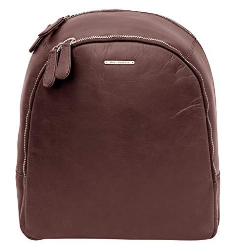 Marco VENZEZIA 'Lady' Rucksack Damen Leder - Lederrucksack Schulrucksack Unirucksack Tasche Schultasche - Vintage-Look -