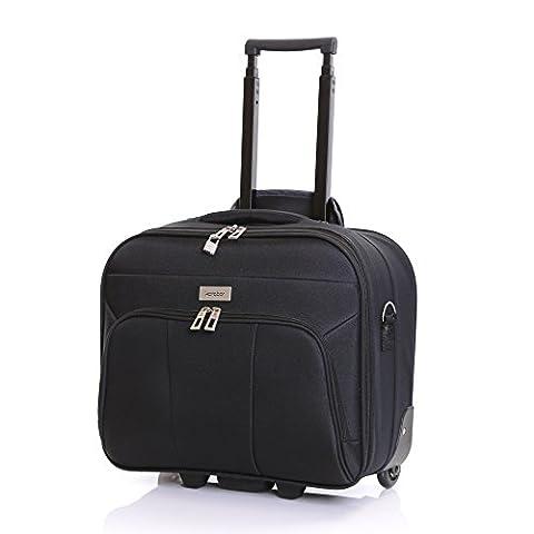 Karabar Minto Wheeled Laptop Case (41 cm, Black 41 cm)