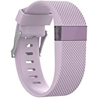 xluckx para Fitbit Charge HR Correa, Correa de Silicona de Repuesto para Fitbit Charge HR Band Accesorios Grande (no se Ajusta Fitbit Charge, Fitbit Charge 2)