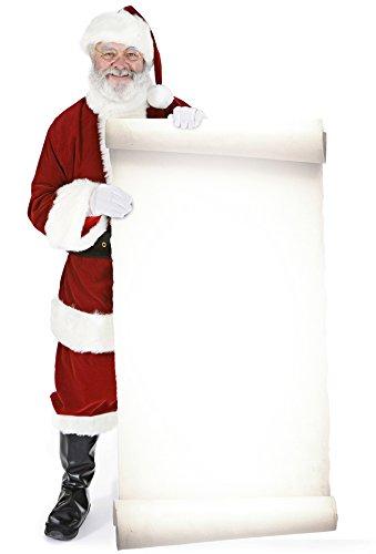 Unbekannt Weihnachtsmann mit Large Sign - Weihnachten LEBENSGROSSE PAPPFIGUREN / STEHPLATZINHABER / AUFSTELLER