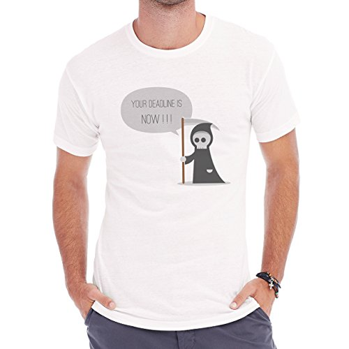 Your Deadline Is Now Kind Death Work Load Boss Herren T-Shirt Weiß