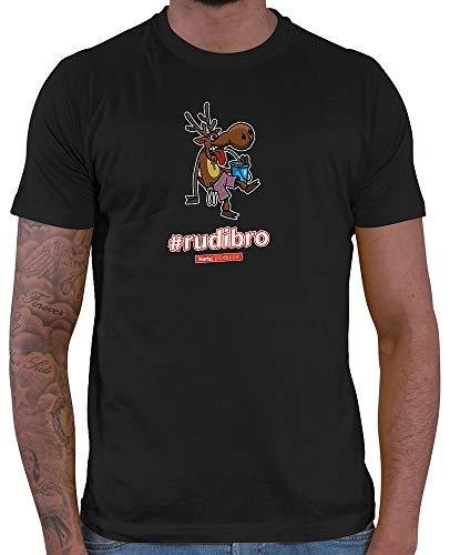 HARIZ  Herren T-Shirt Pixbros Rudibro Xmas Weihnachten Cool Lustig Liebe Plus Geschenkkarte Schwarz XXL