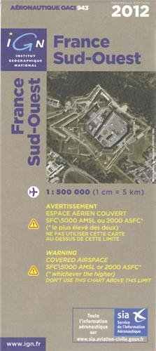 OACI943 FRANCE SUD-OUEST 2012 1/500.000