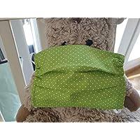Mund- und Nasen-Maske Punkte grün Baumwolle