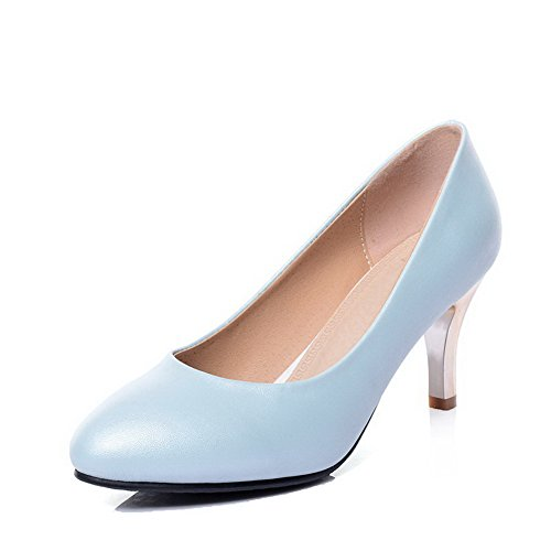 agoolar-womens-round-closed-toe-pull-on-pu-solid-high-heels-pumps-shoes-blue-38