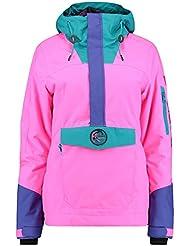 O 'Neill 88' Frozen Wave Anorak Jacket, mujer, 88' frozen wave anorak, rosa neón
