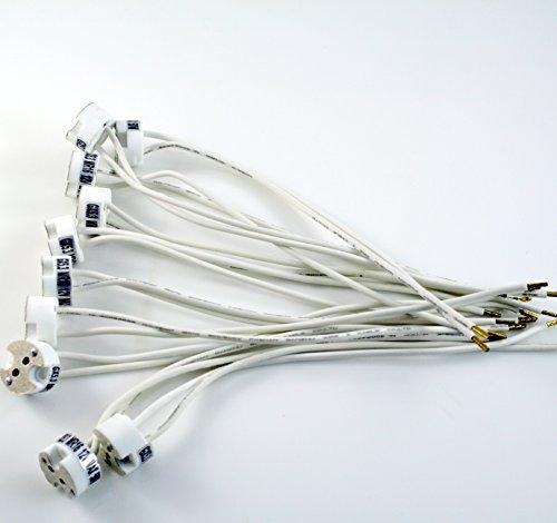 12 Volt, Mr11-g4 Sockel (10 Stück universal 12V Fassung Sockel Halterung aus Keramik für 12V Lampen G4, MR16, GU5,3 MR11, GU4 mit Kabel - ideal für 12V LED und Halogen Birne -)