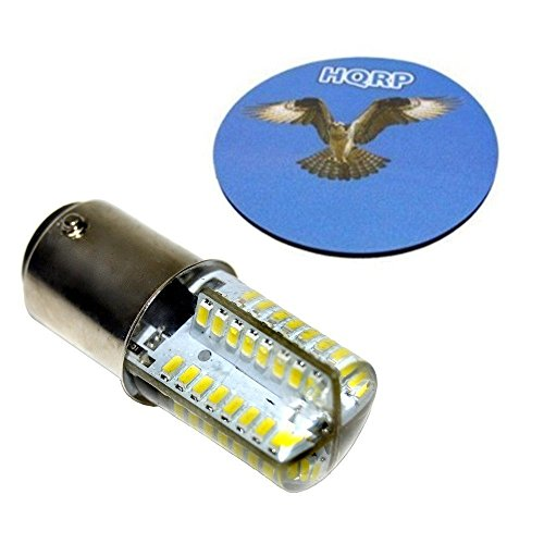 HQRP Gluehbirne Leuchtmittel LED Birne fuer Bernina 530, 540, 640, 700, 710, 720, 730, 740, 750, 810, 840, 850, 900, 930, 940, 950, 1000, 1005, 1010, 1015 Naehmaschine