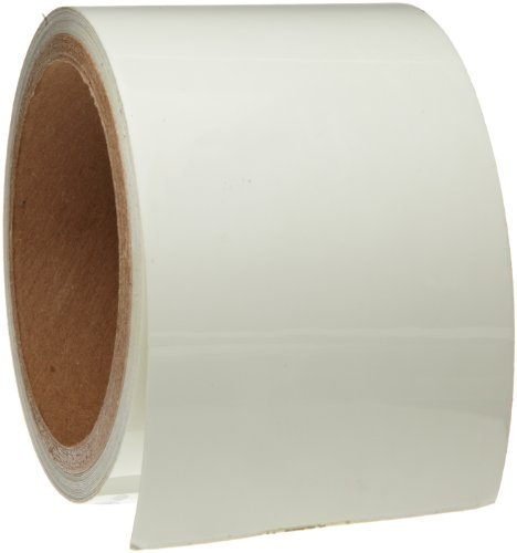 Brady 76433 3 Width, 15' Length, B-324 Glow-In-The-Dark Self-Stick Polyester, Phosphorescent Color Glow-In-The-Dark Stripes And Solid Tape by Brady -