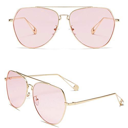 LULUVicky-CS Mens Womens Classic Sonnenbrille 100% UV-Blockierung polarisierte Sonnenbrille Frauen Männer Retro Brand Sun Glasses Polarisierte verspiegelte Linse (Farbe : Rosa 2, Größe : Casual Size)