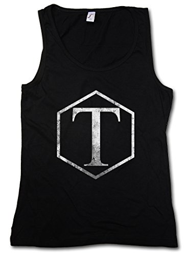 VINTAGE TORCHWOOD INSTITUTE LOGO II DONNA CANOTTA TANK TOP - SciFi TV Series Doctor Who DONNA CANOTTA TANK TOP Taglie S - XL