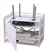 FU HOME TV Set-Top Box Storage Rack, Router montado en la Pared WiFi Rack Free Punching