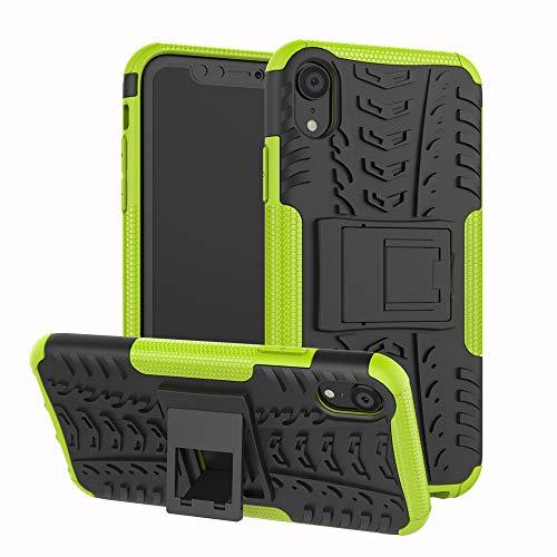 Schutzhülle für iPhone XR, Moment Dextrad [Integrierter Stand] Anti-Rutsch-Design doppellagige Hybrid-Schutzhülle [stoßfest] Schutzhülle für Apple iPhone XR (2018) + Eingabestift, GreenYellow - Verizon Handys Entsperrt Von