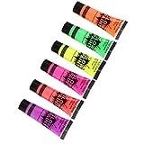 Baoblaze 6 Colores Fluorescentes del Tubo De La Pintura del...