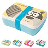 BIOZOYG Kinder Bento Lunchbox aus Bambus I Brotdose mit extra Snack Box I Mädchen und Junge Motiv Brotbox – Waschbär für Kindergarten I Lunch Set To Go BPA frei und 100% lebensmittelecht