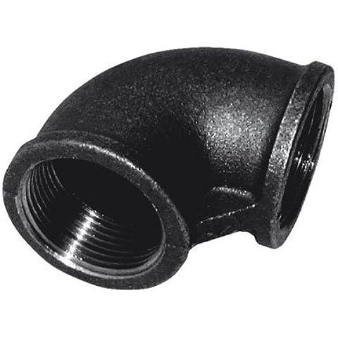 Grúa - 1,91 cm BSPT FEM equivalente codo FIG151 negro - negro, BSPT (de grosor para tuberías de hierro fundido con accesorios) - TAMAÑO DEL PAQUETE: 1 x