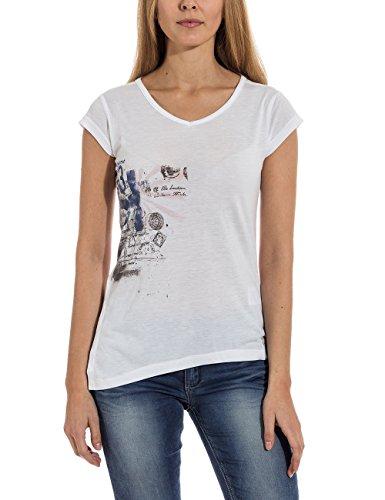 Timezone Damen T-Shirt 12-0392, mit Print, Gr. 40 (Herstellergröße: L), Weiß (pure white 1 Preisvergleich