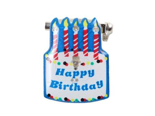 Blinki LED Anstecker Blinky Brosche LED Pin Button viele Motive, wählen:Torte Happy Birthday 123