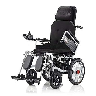 wheelchair Electric Transport Friendly Lightweight Folding Adult Electric (black)