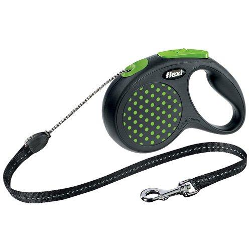 flexi . Roll-Leine Design, Seil 5 m für Hunde bis Maximal 20 kg , M, grün
