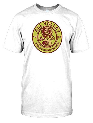 All Valley Karate Championship Cobra Kai - Karate Kid Mens T Shirt - white - Men 42-44