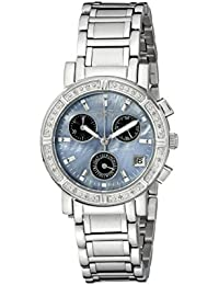 Invicta Women's Wildflower Quartz Watch with Mother of Pearl Dial Chronograph Display and Silver Stainless Steel Bracelet 0610